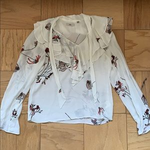 Aritzia Little Moon ruffle pussybow blouse